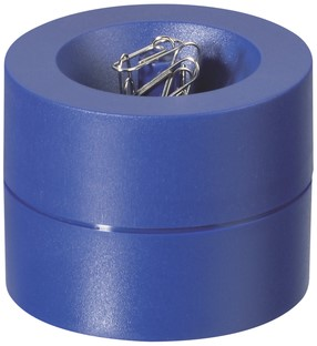 Papercliphouder MAUL Pro Ø73mmx60mm blauw