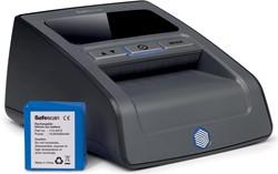 Valsgelddetector safescan 155S zwart met meegeleverde oplaadbare batterij LB-105