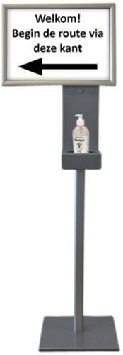 Dispenser standaard Blinc 1,5m met A3 kijklijst