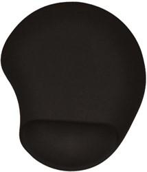 Muismat met gel polssteun zwart