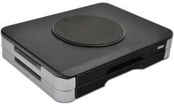 Monitorstandaard met draaiplateau + 2 lades