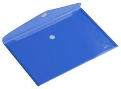 Enveloptas HF2 A4 liggend, transparant blauw