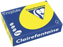 Clairefontaine Trophée Intens A4 zonnegeel, 210 g, 250 vel