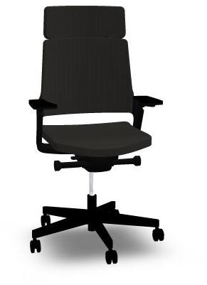 Hoge Bureaustoel Kopen.Bureaustoel Interstuhl Movy 23m6 Zwart Met Hoge Rug Bij Easy4office