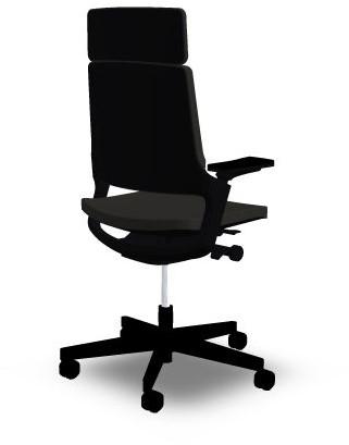 Hoge Bureau Stoel.Bureaustoel Interstuhl Movy 23m6 Zwart Met Hoge Rug Bij Easy4office