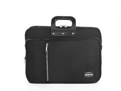 Bombata 24h Gabardina laptoptas 15,6 inch zwart met extra opbergvakken