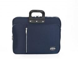 Bombata 24h Gabardina laptoptas 15,6 inch donkerblauw met extra opbergvakken
