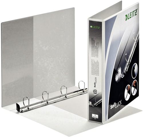 Presentatieringband Leitz SoftClick A4 Maxi 4-rings D-mech 30mm wit