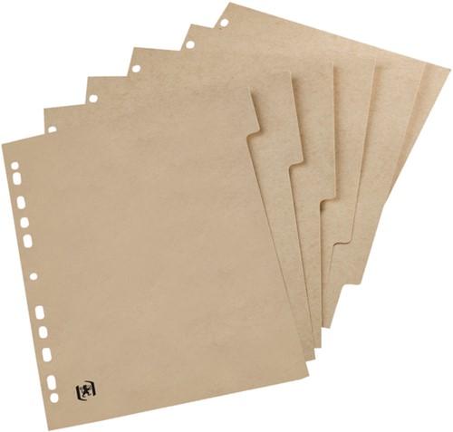Tabbladen Oxford Touareg 11-gaats 6-delig naturel karton