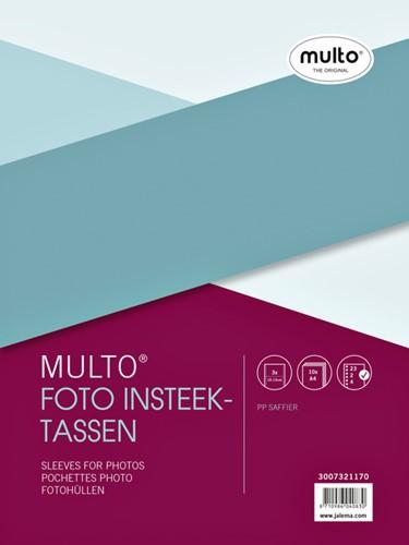 Fototas Multo A4 23-gaats 3-vaks 10x15cm + schrijfstrook PP transparant