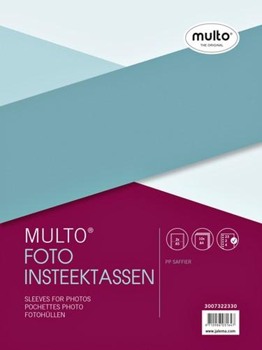 Fototas Multo A4 23-gaats 2-vaks 148x210 PP transparant