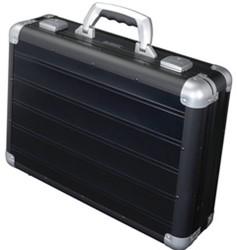 Alumaxx Aluminium Laptop Aktekoffer Venture Zwart