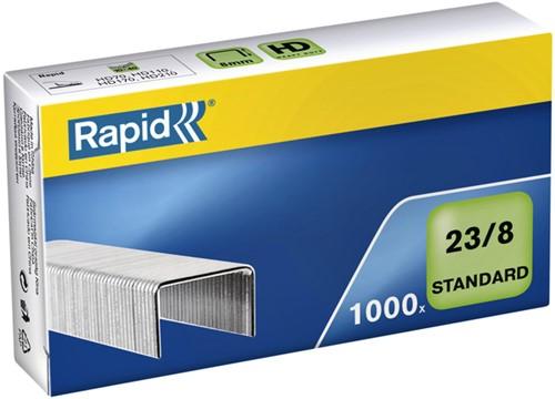 Nieten Rapid 23/8 gegalvaniseerd standaard 1000 stuks