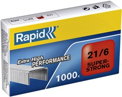 Nieten Rapid 21/6 gegalvaniseerd super strong 1000 stuks