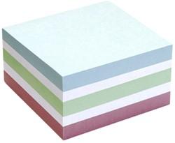Memoblok Info Notes kubus 75x75mm pastel assorti 400vel
