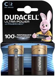 Batterij Duracell Ultra Power 2xC MX1400
