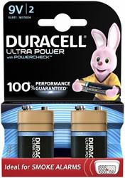 Batterij Duracell Ultra Power 2x9Volt MX1604