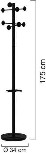 Kapstok staand Unilux Accueil zwart-2