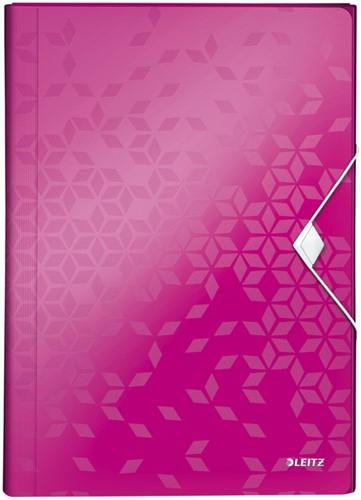 Sorteermap Leitz WOW PP 6-vaks roze
