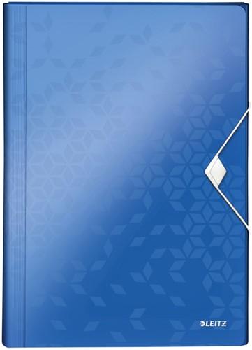 Sorteermap Leitz WOW PP 6-vaks blauw
