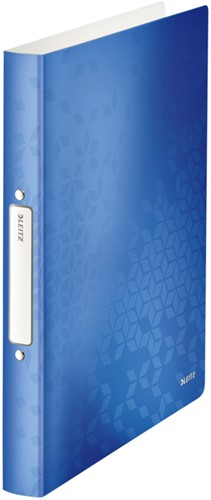 Ringband Leitz WOW A4 2-rings O-mech 25mm PP blauw