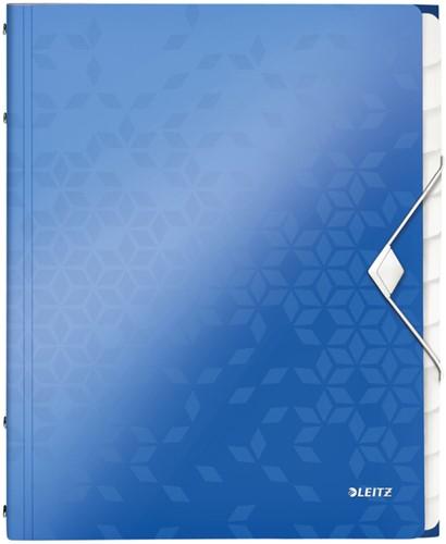 Sorteermap Leitz WOW PP 12-delig blauw