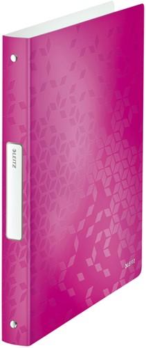 Ringband Leitz WOW A4 4-rings O-mech 25mm PP roze
