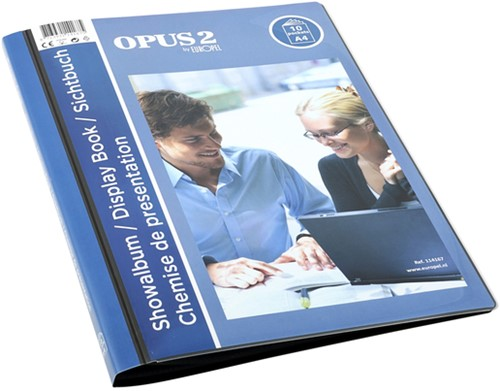 Showmap Opus 2 A4 frontview 10-tassen antraciet