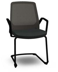 Bezoekersstoel Interstuhl Buddy 570B zwart frame en Era zwart bekleding
