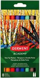 Brushstift Derwent Academy twin tip assorti