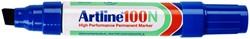 Viltstift Artline 100 schuin blauw 7.5-12mm