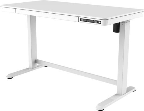 Zit-sta thuiswerkplek - elektrisch instelbaar - kunststof blad wit of eiken - B 120 x D 60 cm