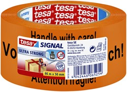 Verpakkingstape Tesa Signaal Tape 50mmx66m oranje/zwart