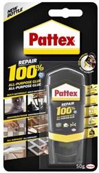 Lijm Pattex 100% tube 50gram op blister