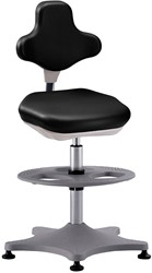 Laboratoriumstoel Bimos Labster-3 met glijders en voetenring, zithoogte 55-80cm