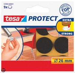 Tesa protect vilt bruin 26mm, 9 stuks