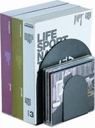 Boekensteun Officemate extra 229mm zwart set 2 stuks