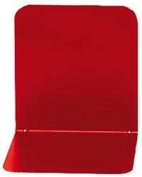 boekensteun Alco 130x140x140mm metaal 2 stuks in doos rood