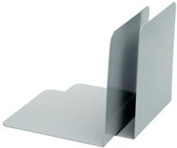 boekensteun Alco 130x140x140mm metaal 2 stuks in doos grijs