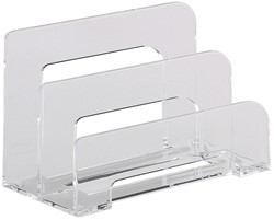 brievenstandaard Alco acryl 2-vaks transparant 75x150x95mm