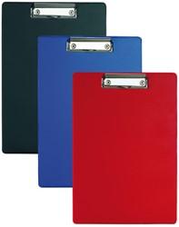 klembord Alco karton met kunststof omtrokken, A4 blauw