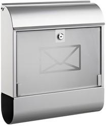 brievenbus Alco zilver met slot 360x400x110mm