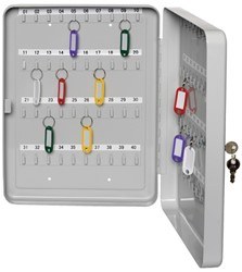 sleutelkast Alco 200x160x80mm grijs voor 40 sleutels