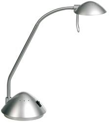 bureaulamp Alco halogeen G4 230/12V, 20W, zilver