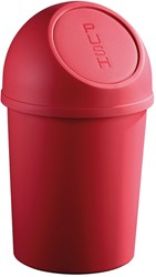 Afvalbak klapdeksel, 13l rood