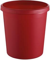 Afvalbak, 18l rood