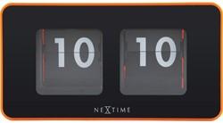 tafelklok NeXtime 9.2x17.5x9.6cm, oranje, plastic