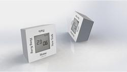alarmklok NeXtime 7,4x4x7,4cm metaal, wit, 'Turn4Time'