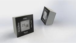 alarmklok NeXtime 7,4x4x7,4cm metaal, zwart, 'Turn4Time'