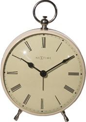 Alarmklok NeXtime 17.5 x 12.5 x 6.5 cm, metaal, Creme, 'Charles'